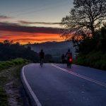 自転車の夜道