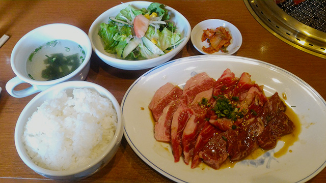 焼肉「カルビ屋 大福」の満腹ランチ