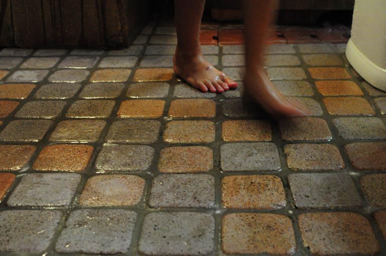高野槇(小)のお風呂の床